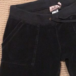 🔴JUICY COUTURE BLACK TERRYCLOTH PANT